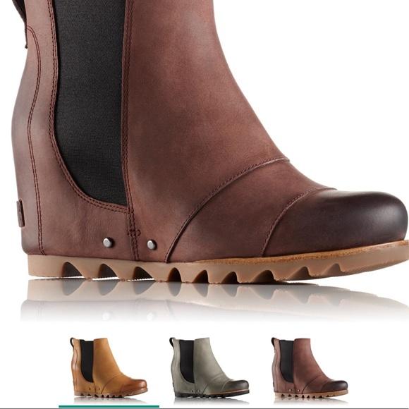 c133eb2330a3 Sorel lea wedge waterproof leather boot NIB 10